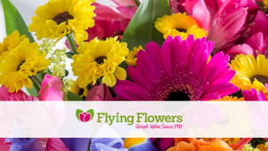 13% Off Bouquet Orders at Flying Flowers