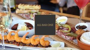 25% off Food Bill at All Bar One