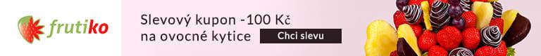 Slevový kupon -100 Kč na ovocné kytice
